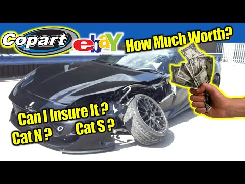 Cat N or Cat S Vehicles Copart Write Off, Salvage Video Tutorial