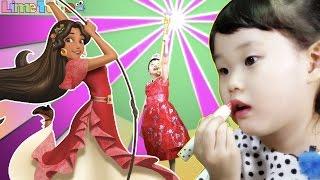 라임의 엘레나 공주로 변신! 메이크업 화장품 디즈니 소피아 인형 장난감 공주 변신 놀이 LimeTube & Toy 라임튜브