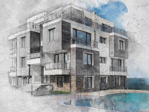Architecture Sketch Photoshop Effect Tutorial
