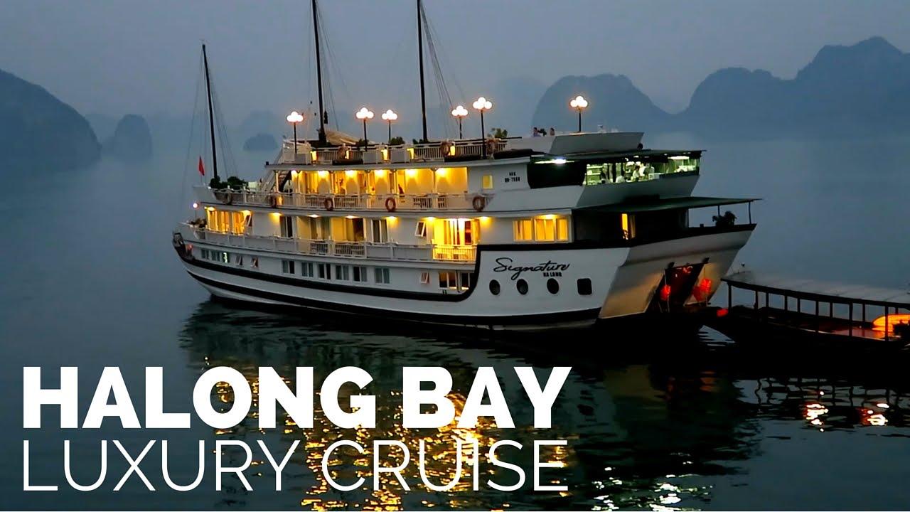 halong bay luxury cruise signature cruise youtube. Black Bedroom Furniture Sets. Home Design Ideas