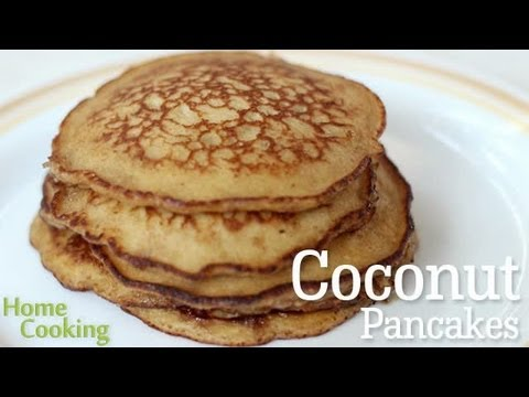 Coconut Pancakes Recipe Ventuno Home Cooking Youtube
