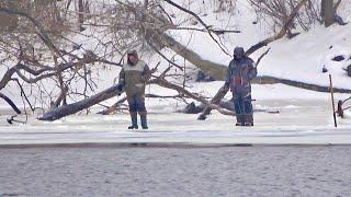 Отчаянная рыбалка И ни мороз ни дождь нам не помеха