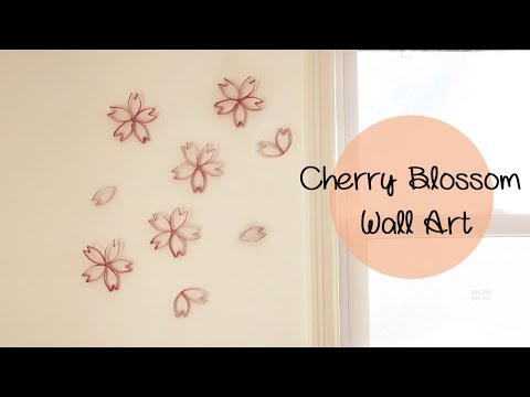 Decorative Cherry Blossom Wall Art Using Toilet Paper Rolls   Upcycle DIY |  Sunny DIY