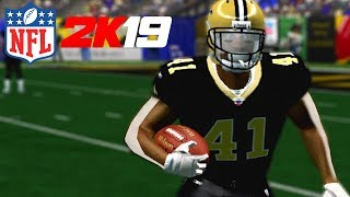 NFL 2K5 GAMEPLAY! ALVIN KAMARA IS A CHEAT CODE!