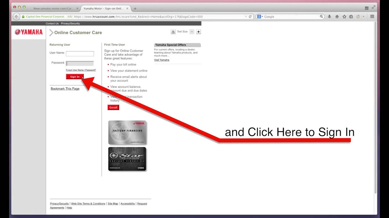yamaha motors bill payment 1 click billpay youtube