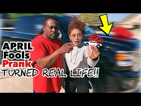 I BOUGHT MY DAD A BRAND NEW TRUCK! April Fools Prank Turned Real Life! | jasmeannnn