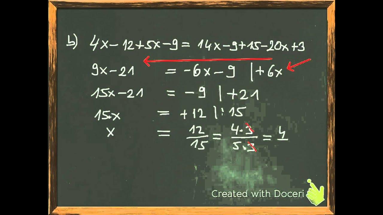 Arbeitsblatt Mathe Terme Und Gleichungen : Terme und gleichungen lösen mit beispielaufgaben youtube