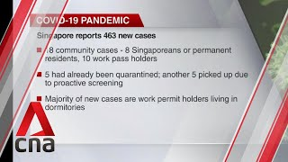 Singapore reports 463 new COVID-19 cases, including 18 community infections