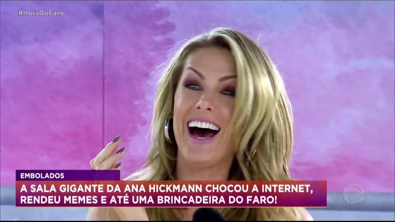 """Faro leva desfile de escola de samba para """"sala"""" de Ana Hickmann"""