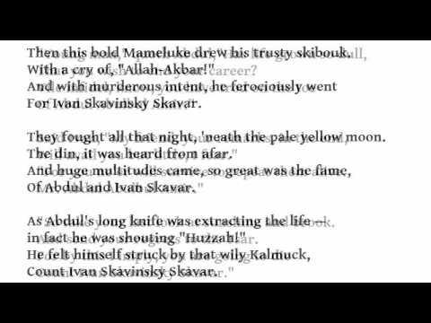 """""""Abdul Abulbul Amir"""" by Percy French (read by Tom O'Bedlam)"""