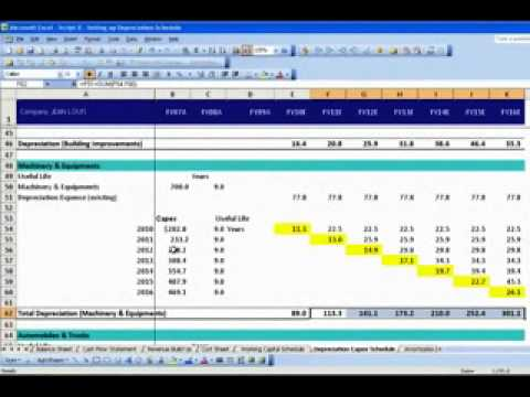 Setting up Depreciation Schedule - YouTube