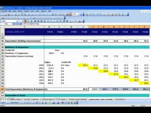 Setting up Depreciation Schedule - YouTube
