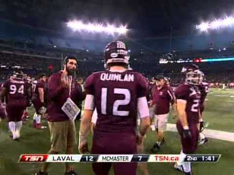2012 Coupe Vanier Cup: Université Laval Rouge et Or vs McMaster University Marauders FULL