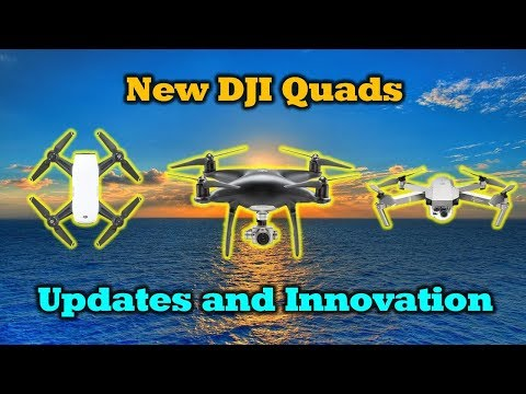 New Drones From DJI – Updates and Innovations – Mavic Pro Platinum – Phantom 4 Pro Obsidian