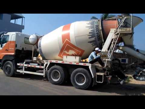Real construction trucks at work | Cement mixer and loader truck | Construction trucks for children