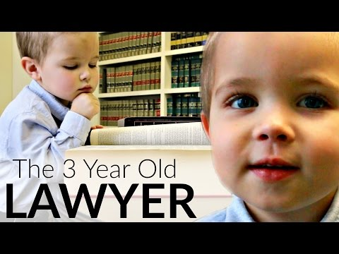 The 3 Year Old LAWYER!