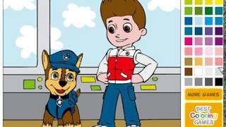 Щенячий патруль раскраска: Гонщик и Райдер (PAW Patrol Chase and Ryder)