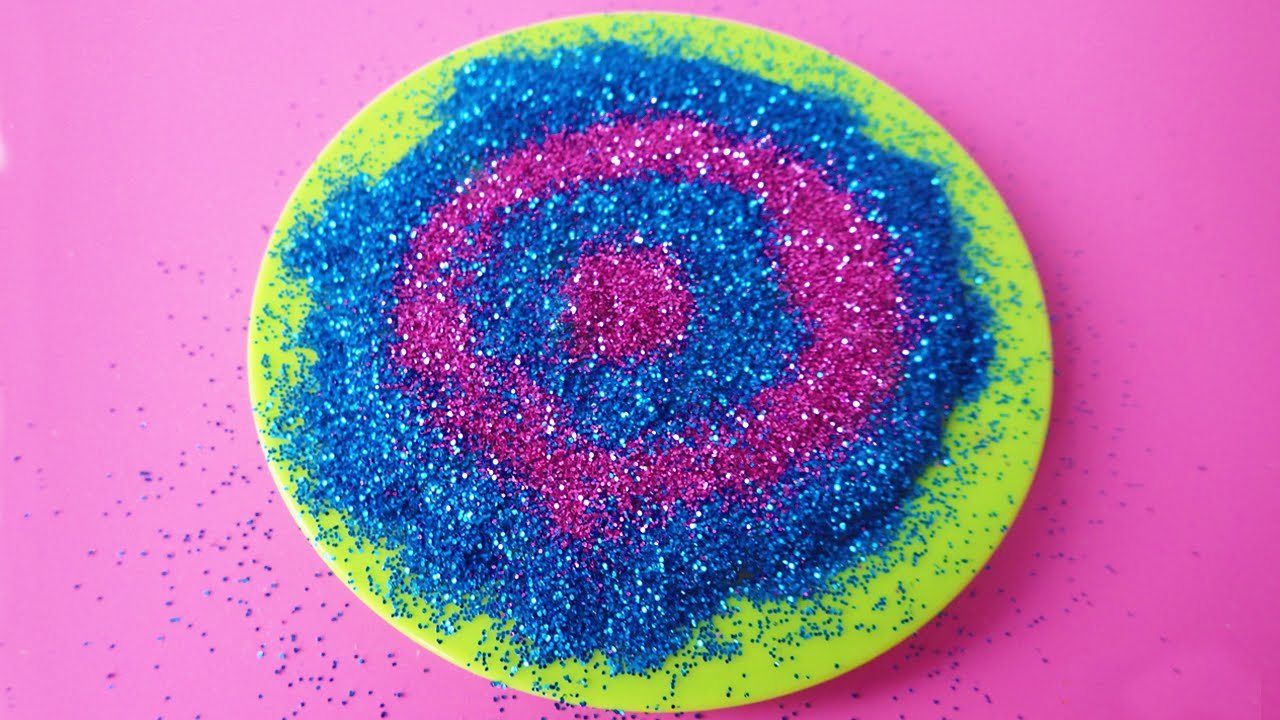 How To Make Glitter Galaxy Slime Blue Purple Without Borax ...