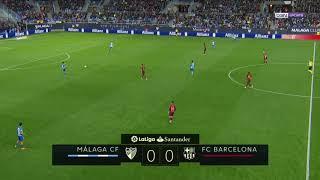 MALAGA vs FC BARCELONE : Liga Santander 2018 buts et résumé du match