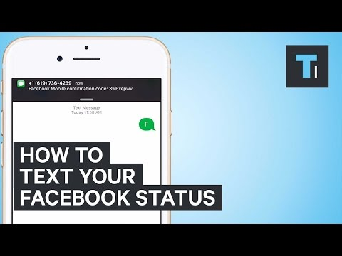 How To Text Your Facebook Status
