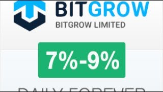 BITGROW MULTIPLY YOUR BITCOIN 7 9 DAILY FOREVER