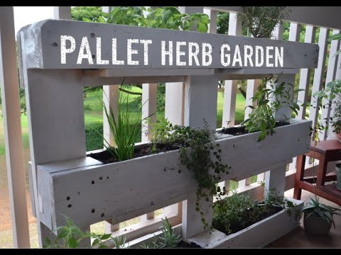 Pallet Herb Garden Project – Simple and Easy!