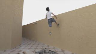 كيف تتشقلب على الجدار-حركة باركور