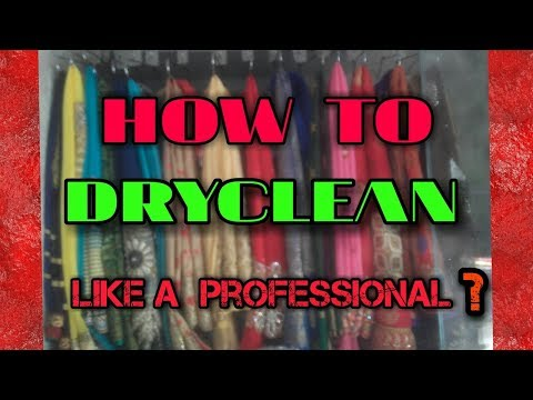 Seva dry cleaners  how to dry clean  Saree  & clothes. .I'm using machine. Hindi .