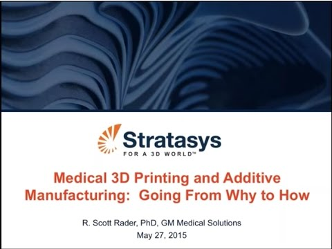 Webinar: Medical 3D Printing and Additive Manufacturing with