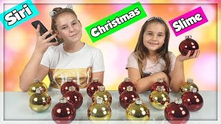 SIRI PICKS / CONTROLS MY CHRISTMAS SLIME CHALLENGE ! en francais