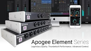 Apogee's Element 24, 46 and 88 are Thunderbolt audio I/O boxes for ...