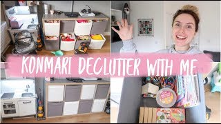 KONMARI METHOD EXTREME TOY DECLUTTER/ DECLUTTER BEFORE CHRISTMAS WITH ME/ ORGANISING OUR LIVING ROOM