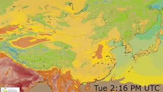 Eastern Asia Surface Temperature Weather Forecast HD: 19 May 2019 [Updated at 0000 hours UTC]