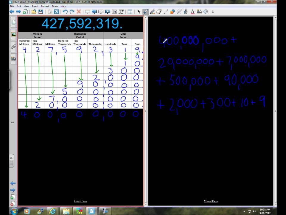 expanded form versus standard form  Video Walkthrough Place Value - Standard Form Vs. Expanded Form 155-NBT-155  Part 15