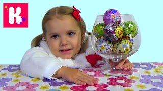 Свинка Пеппа Юху и его друзья Маша и Медведь Чупа Чупс шары с сюрприз игрушки surprise balls toys