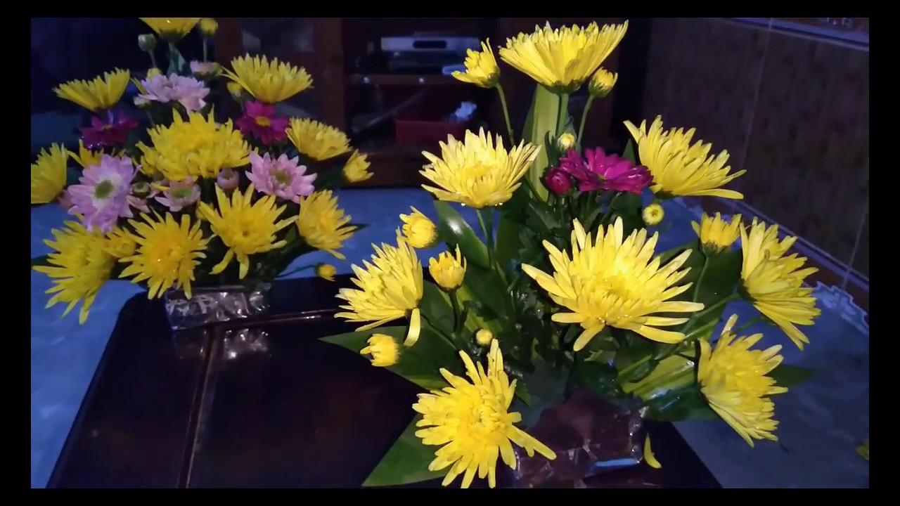 Hướng dẫn cắm hoa Cúc tại nhà – cách cắm hoa cúc để bàn thờ