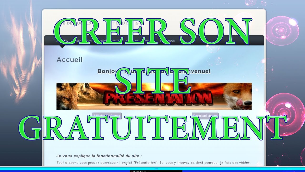tuto fr comment cr er son site internet gratuitement et rapidement youtube. Black Bedroom Furniture Sets. Home Design Ideas