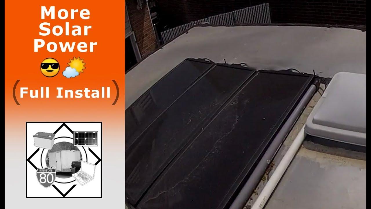 cargo trailer camper solar panel install [ 1280 x 720 Pixel ]