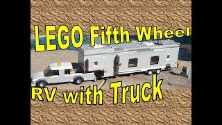 LEGO 5th Wheel RV Trailer/Camper | with Truck | CUSTOM