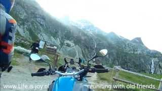 Stella Alpina, riding highest offroad mountainroad in Alps, Col de Sommeiller on BMW R1200GS LC