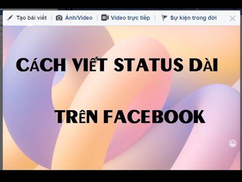 Cách viết status dài trên Facebook có nền màu | Trần Lệ Nguyễn