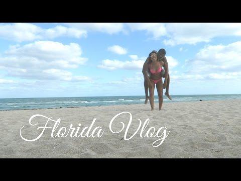 Florida Vlog! | Miami Hurricanes store and beach | CurlyTati