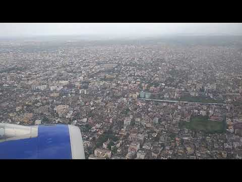 Aerial view of Patna city in HD (in rainy season)