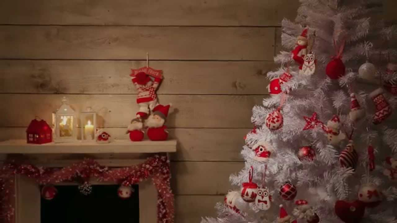 Albero Di Natale Bianco E Rosso.Come Addobbare L Albero Di Natale 2014 Bianco E Rosso Youtube