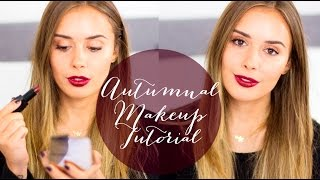 Autumnal Rose Gold/Vampy Makeup Tutorial | HelloVlogtober Day 2