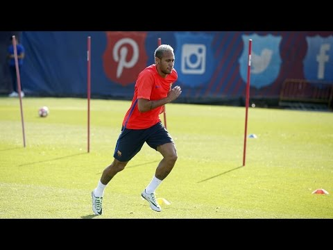 FC Barcelona training session: Neymar Jr returns to training