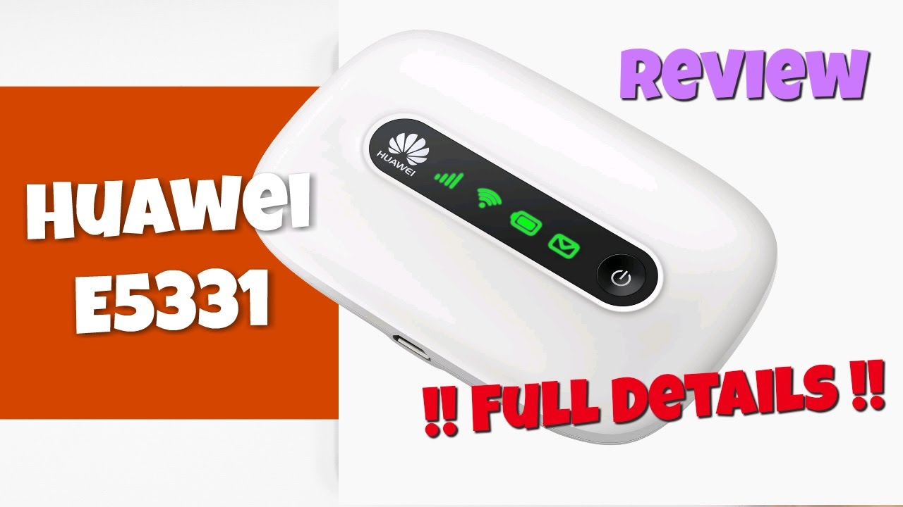 Huawei E5331 3G MiFi Data Card Unboxing and Setup