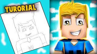 Tutorial, Wie man ein cartoon Minecraft (Templete ) !