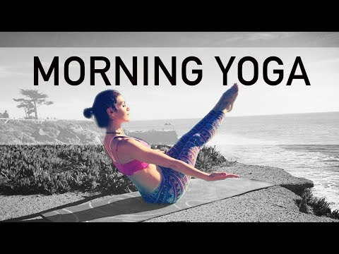 "AK73 Energizing Morning Intermediate Yoga ""Coffee Cup"" Core FULL BODY"