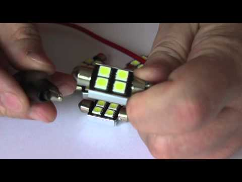 Żarówka LED canbus rurka 36 mm 4 SMD 5050 + radiator